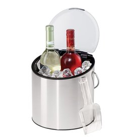 Oggi 4qt Ice or Wine Bucket w Ice Scoop Removable Flip Top Lid