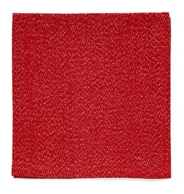 Harman Frosted Shimmer Red Metallic Thread Napkins Set of 4 0937612 Harman