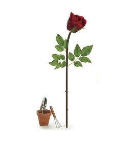 Burton and Burton Flowers Silks   Large Display 9717782 Red Rose Stem 43.5 in.