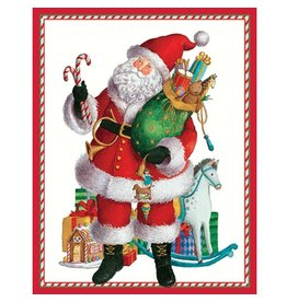 Caspari Christmas Gift Card Holders 4pk 9547ENC Coming to Town Santa