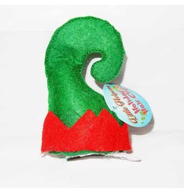 DM Merchandising Holiday Hair Clip Mini Santa Elf Christmas Hat on Non Slip Barrette