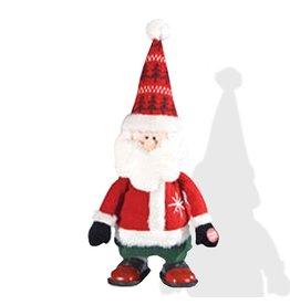 Gallerie II Musical Walking Santa Figurine FGS70429 Animated Christmas