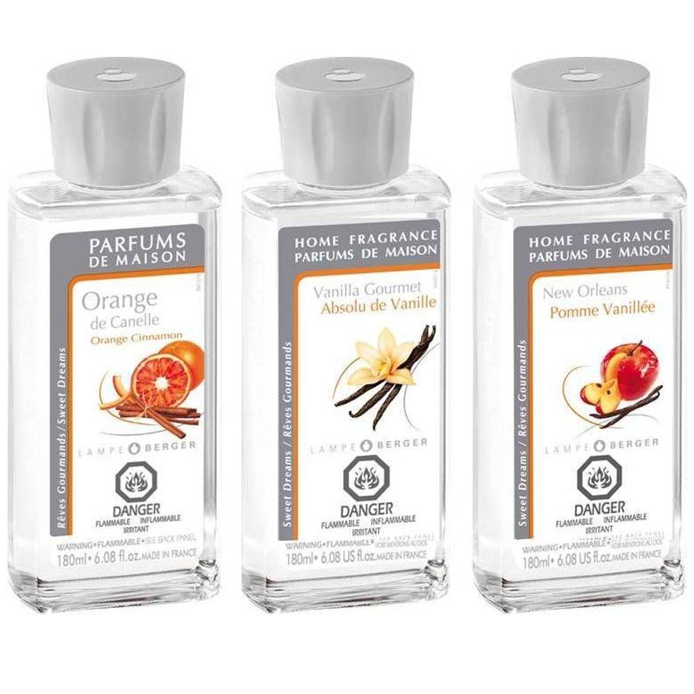 Lampe Berger Oil Liquid Fragrance 180ml Tri Pack 023935 Warm Trio Pack II  ...