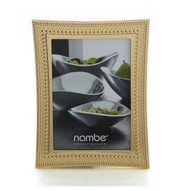 Nambe Beaded Gold Frame - 5 x 7 MT0748