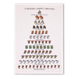 Peking Handicraft Holiday Flour Sack Kitchen Tea Towel A Baseball Lovers Christmas