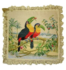HKH International Toucans Needlepoint Accent Pillow HP2550T HKH