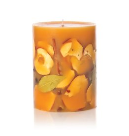 Rosy Rings Spicy Apple Botanical Candle Pillar 6x9.5H Round