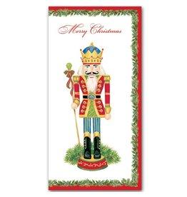 Caspari Christmas Money Card Individual Nutcracker Money Holder Card