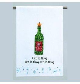 Peking Handicraft Christmas Towel Let it Flow Christmas Guest Towel 04AM19WC Peking