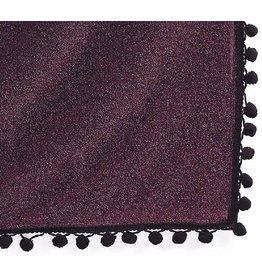 Burton and Burton Table Covers 9717152 Purple Shimmer Black Trim Tablecloth