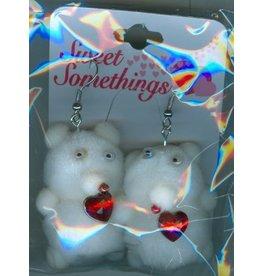 DM Merchandising Valentines Gifts PPVAL144E Teddy Bear Earrings