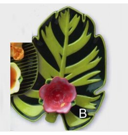 Boston Warehouse Sunset Palms Tidbit Dipping Set  Ceramic Set of 2