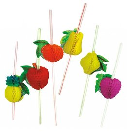 Party Partners Party Straws 12Pk Crepe Paper Fruit by Party Partners