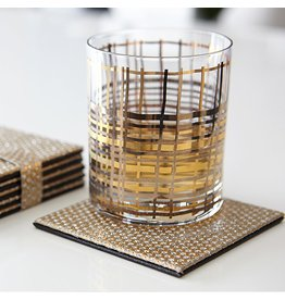 Harman Diamonds Hardboard Coasters Set of 6 Gold 1908015 Harman