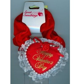 DM Merchandising Valentine's Gifts | PPVAL144T Happy Valentine's Day Heart Hair Tie