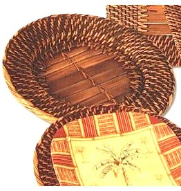 Bamboo Rattan Round Charger