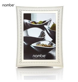Nambe Picture Photo Frame Beaded Frame 5x7 MT0646 Silver Plate