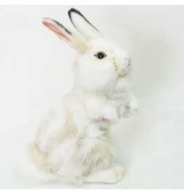 Hansa Toy Hansa Bunny Rabbit White w Grey 12in Plush 4153 Hansa Toys