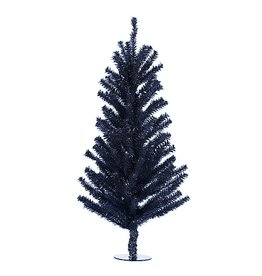 Kurt Adler Black Christmas Tree 18 inch Black Miniature Tree