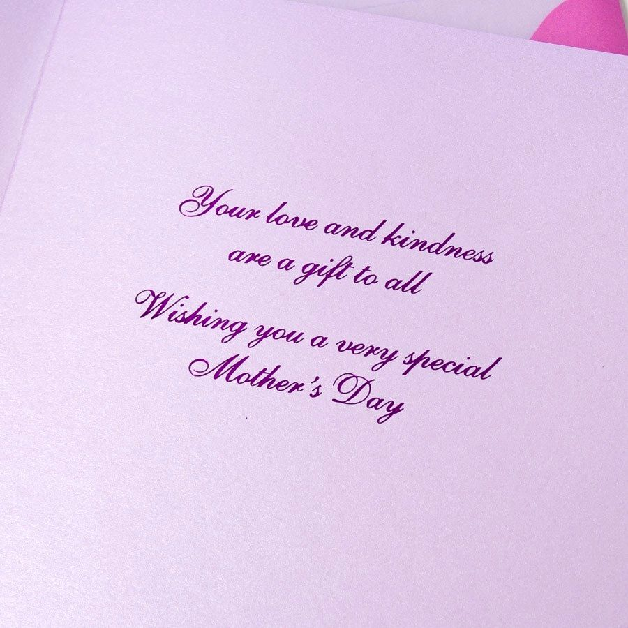 Mothers Day Card Flowers With Glitter Butterfly By Papyrus Digs N