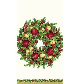 Caspari Paper Napkins  Williamsburg Wreath Christmas Guest Napkins