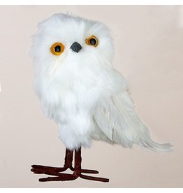 Kurt Adler Christmas Ornament White Owl Bird Hanging Ornament A