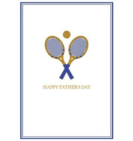 Caspari Fathers Day Card Tennis - Top of His Game Embossed Card