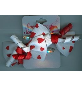 DM Merchandising Valentine's Gifts | PPVAL144CC White Bow Hair Clips