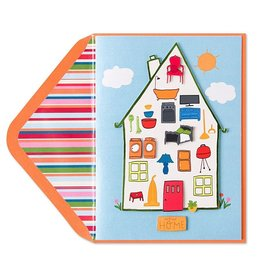 Papyrus Greetings New Home Card Household Shapes by Papyrus