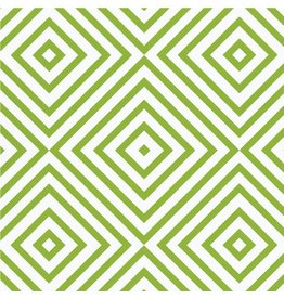 Caspari Gift Wrapping Paper 8914RSC Chevron Green Roll 5ft