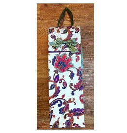 Wine Bottle Gift Box Floral Tapestry Wine Box