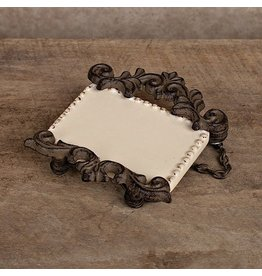 GG Collection Bottle Label Customizeable Brown Frame w Chain GG Collection