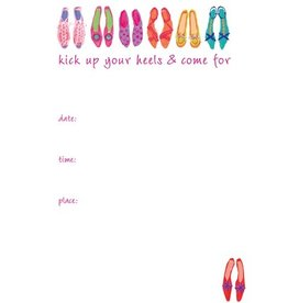 Caspari Party Invitations 83913E40 Devine Shoes All Occassion Invites Set of 8