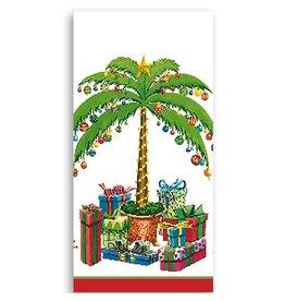 Caspari Paper Facial Tissues Deck the Palm Christmas Hankies