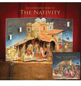 Caspari Advent Calendars Story Book Pop Up ADV219 The Nativity