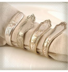 Kitchen Papers Cake Vintage Napkin Rings Vintage Silver Plate Silverware Napkin Rings Set of 4