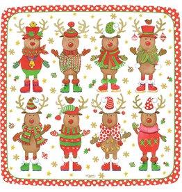Caspari Christmas Paper Salad-Dessert Plates 8pk 12000SP Sweater Party