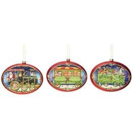 Set of 3 Toyland Express Ornaments 36-44112