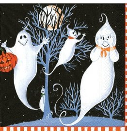 Caspari Halloween Napkins Peek A Boo Ghosts Cocktail Napkins 20pk
