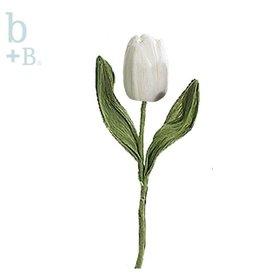 Burton and Burton Flowers   Spring Decorations 9715483SC White Small Paper Tulip