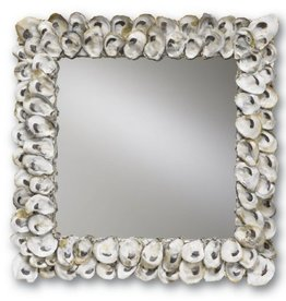 Currey and Company Mirror Square Oyster Shell Mirror 1348 Currey Company