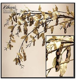 Katherine's Collection Flowers Florals 18-82314 Gold Pea Pod Branch