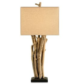 Currey and Company Driftwood Table Lamp 6344 Lamps Lighting Currey Company