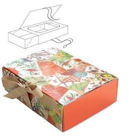 Caspari Paper Gift Box w Sliding Tray Food Grade Imari 2pk PFB001 Caspari