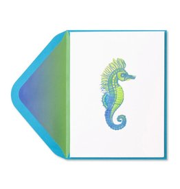 Papyrus Greetings Blank Card Seahorse with Gems by Papyrus