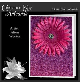 Constance Kay Art Card Sparkle Flower Bloom Pink by Constance Kay