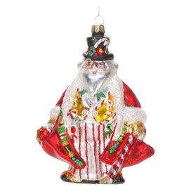 Ornament Glass Santa Father Time 36-34262-B
