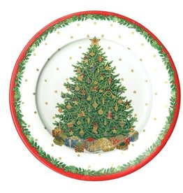 Caspari Paper Plates Caspari Christmas Trees Salad-Dessert Plates