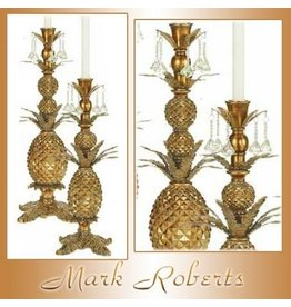 Mark Roberts Stylish Home Decor Pineapple Candle Holder 21H