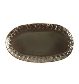 Vietri Incanto INC-1124-M Metallic Curl Small Oval Platter